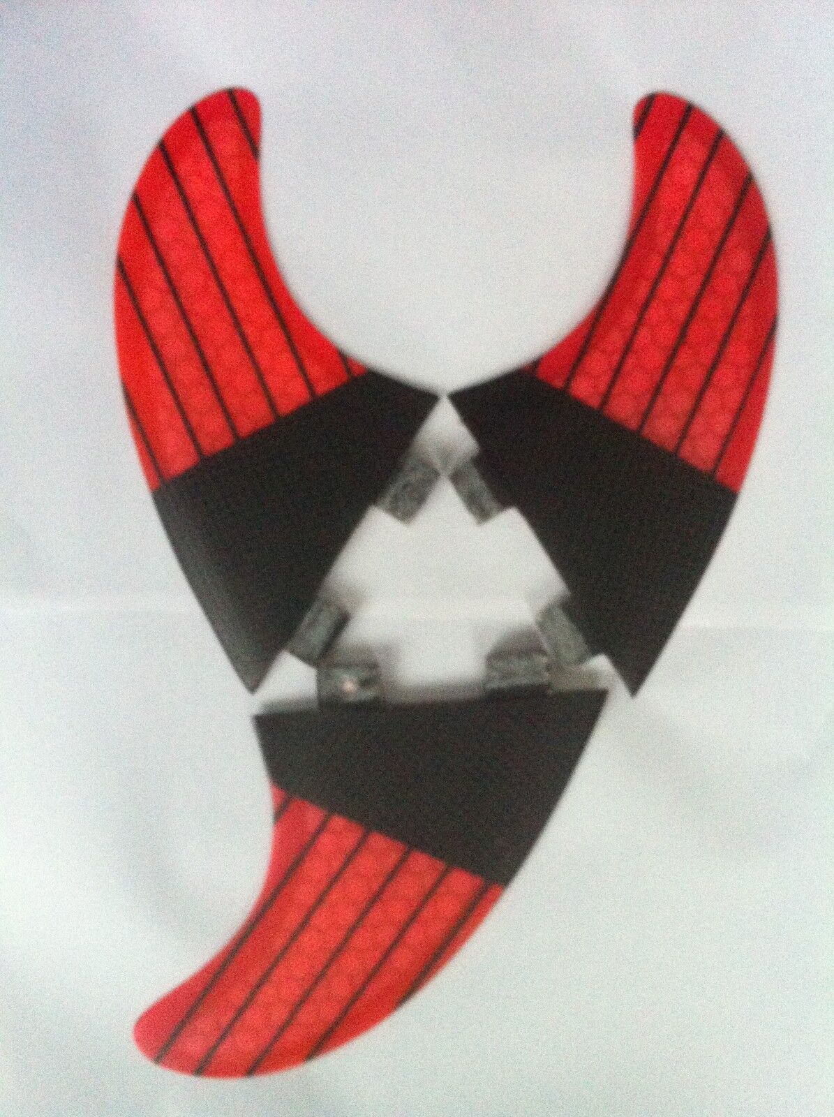 SURFBOARD FINS Carbon Honeycomb FCS Fit Surf Fin,M5 Thruster Set Of3 Hexcore Red