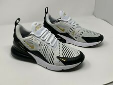 Nike Air Max 270 Mens Av7892 100 White Black Gold Mesh