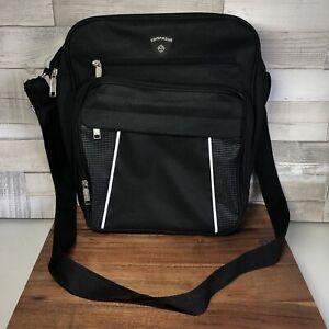 Compass-overnight-Laptop-Briefcase-Side-Bag-Men-s-Manbag-Shoulderbag-Black-Zip