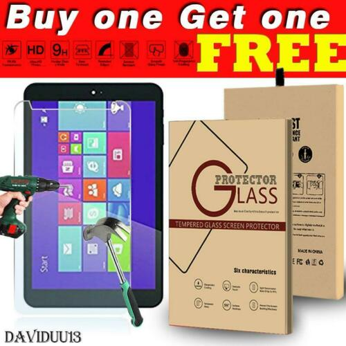 """Tablet Tempered Glass Screen Protector Cover For DigiLand 8/"""" DL801W DL808W"""