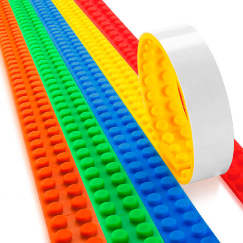 Block Tape for Legos Strong Adhesive 5 Rolls//Pack Toy Building Blocks Ages 3+