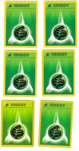 Lot of 6 1999 Pokemon Cards Green Leaf Grass Energy Base Set 99/102 Card Six