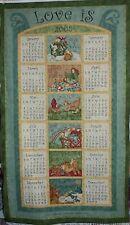 Rare Love is Collectors Calendar Cotton Quilting Panel Fabric - Nancy Halvorsen