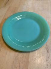 "Vintage Jadeite Fire King Jane Ray 7.5"" Lunch Salad Plates- Set Of 2"
