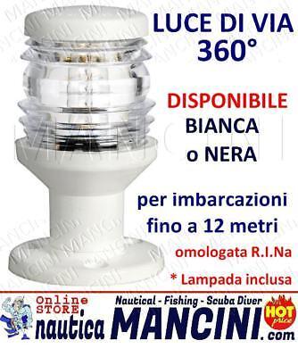 FANALE LUCE TESTA ALBERO LUCE DI VIA 360° COMPACT  FINO A MT 12