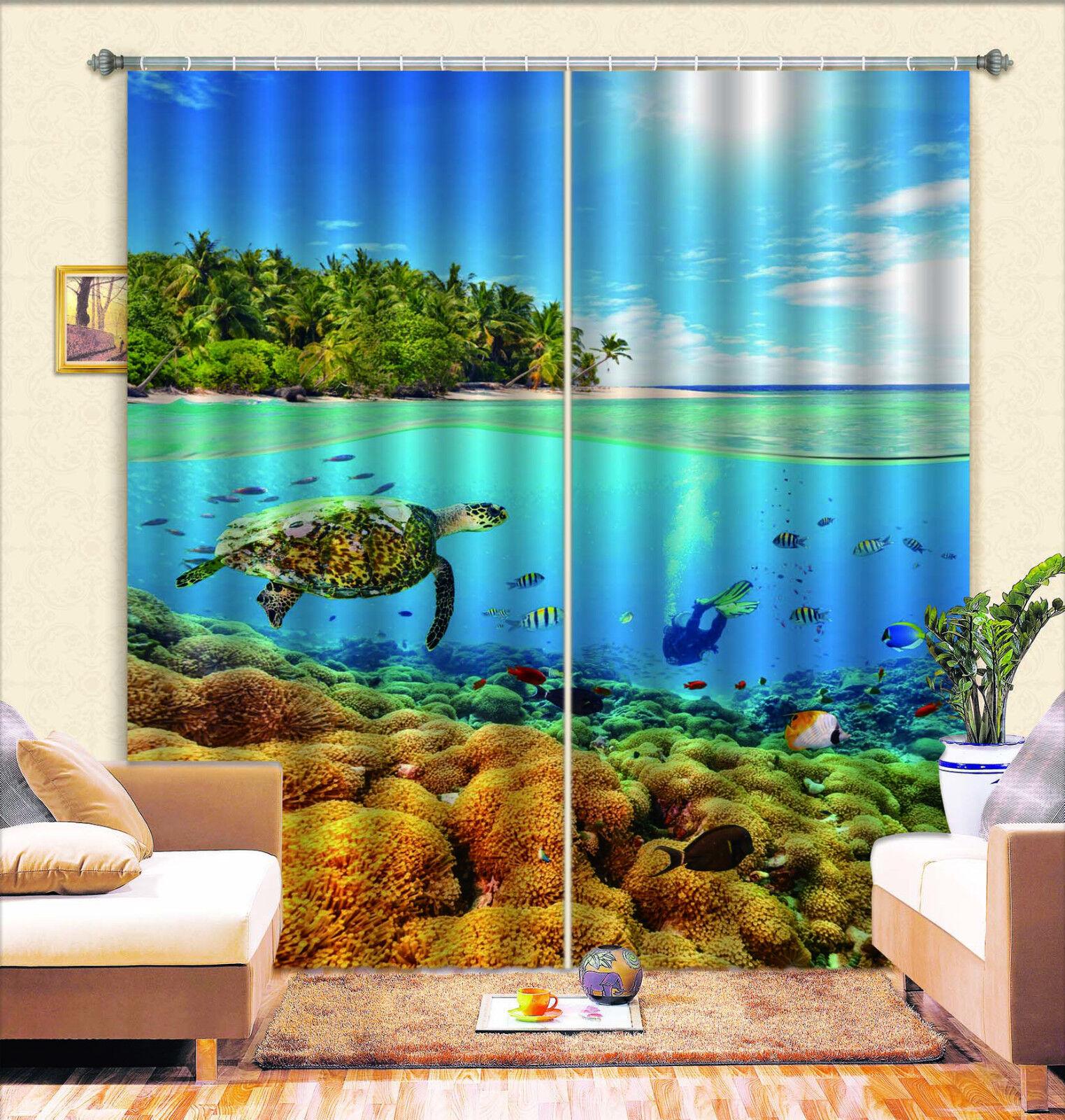3d bello Oceano 587 blocco foto sipario pressione sipario tende tessuto finestra de