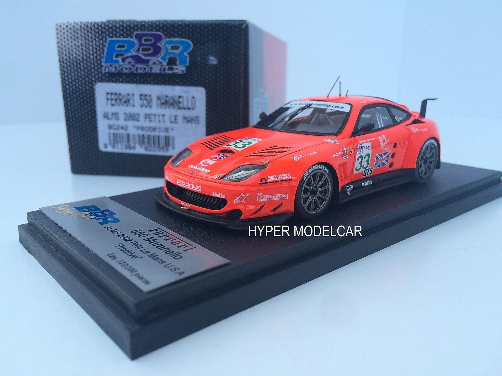 BBR Models 1 43 Ferrari 550 Maranello  33 Alms 2002 Petit Le Mans  Art.Bg242