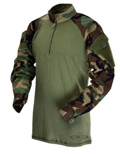 Woodland Camo 1//4 Zip Tactical Combat Shirt by TRU-SPEC 2545 FREE SHIPPING