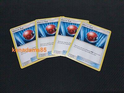 4x Cherish Ball 191//236 Unified Minds  Pokemon TCG Online Digital
