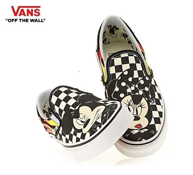 Vans DISNEY Classic Slip-On Mickey Mouse Fashion Sneakers,shoes VN0A38F7UJ4