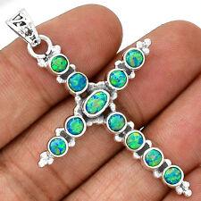 Cross - Fire Opal 925 Sterling Silver Pendant  Jewelry PP24169