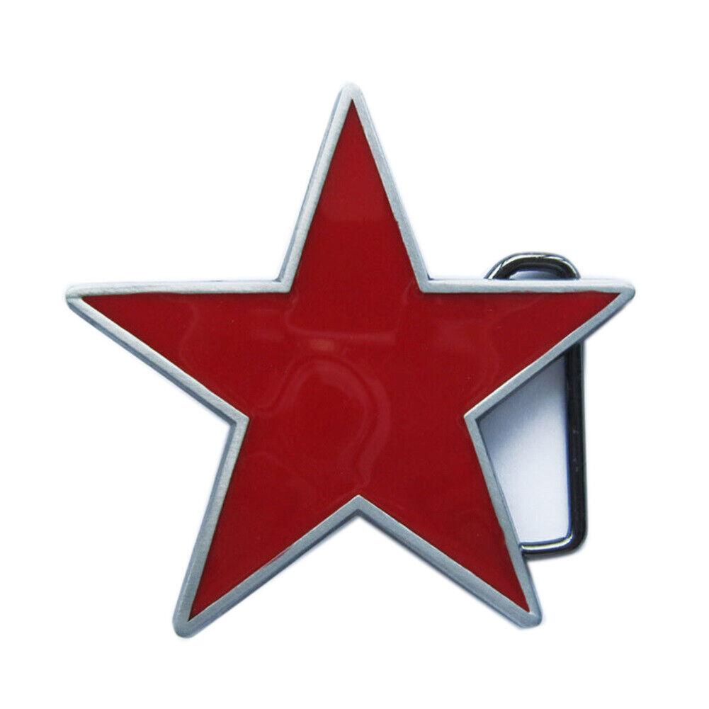 Star III Belt Buckle Western Cowboy Rodeo Saloon Sherriff Sheriff Star Badge