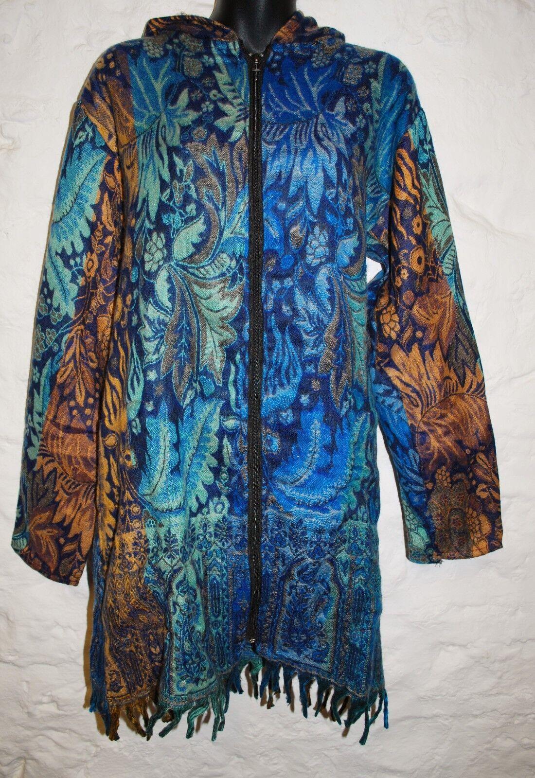 16 Long Traded 14 Fairly Hippy Ethnic India Acrylic Fleece Coat 7b6fgYyv