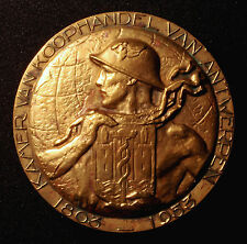 Antwerpen, große Bronzemedaille 1953, v. Dupon, 150 J. Chambre de Commerce, RR!