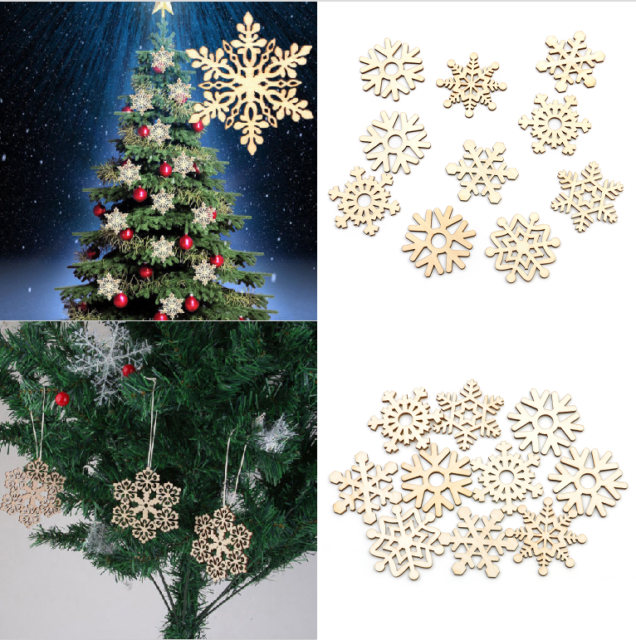 10Pcs//Set Mini White Snowflake Ornaments Christmas Holiday Party Home Decor