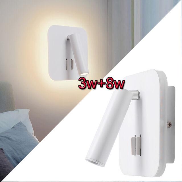 Applique Comodino Orientabile Lampada Da Parete Camera Da Letto Faretto Quadrato Ebay