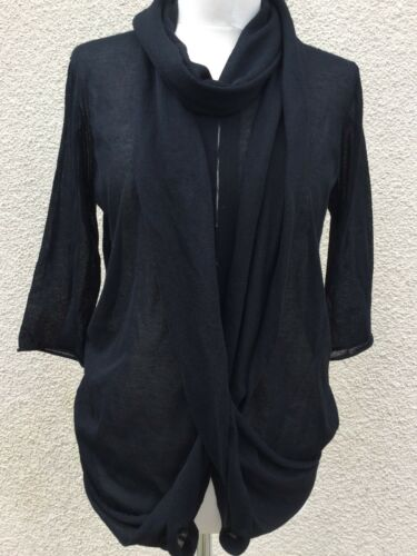 14 Knit 12 Shirt Cowl Designer Ports New Neck Top Black Fine M 1961 OxCwCPtq4
