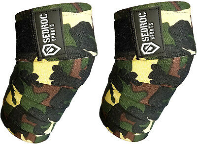 Sedroc Weight Lifting Knee Compression Sleeves Crossfit Training Digital Camo