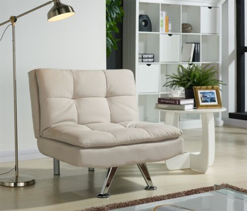 Fabric Single Comfortable Lounge Chair Cream Charcoal Option Reclining Chair Cream,Charcoal