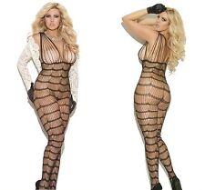 New Ladies Bodysuit Plus Size 14 XL Fishnet Bodystocking Lingerie Catsuit Tights