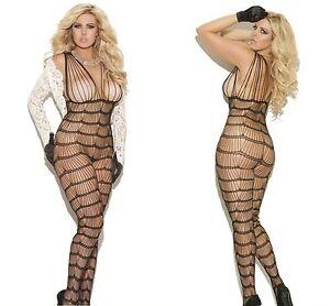 3157ecfe89 New Ladies Bodysuit Plus Size 14 XL Fishnet Bodystocking Lingerie ...