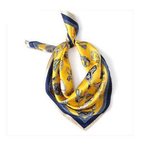 100-Silk-Women-039-s-Yellow-Kerchiefs-Scarfs-Small-Square-Hairband-Scarves-21-034-21-034