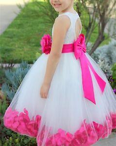 a049d5356 Rose Petals Lace Heart Cutout Ivory Flower Girl Dress Toddler Girl ...