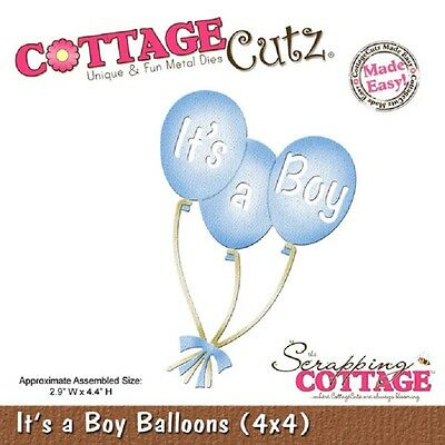COTTAGE CUTZ DIES - 3D Cutting die IT'S A BOY BALLOONS 4x4- CC4x4-582