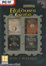 Baldur's Gate 4 in 1 Boxset Shadows of Amn Throne of Bhaal PC Brand New Sealed