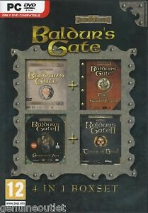 Baldurs-Gate-4-in-1-Boxset-Shadows-of-Amn-Throne-of-Bhaal-PC-Brand-New-Sealed