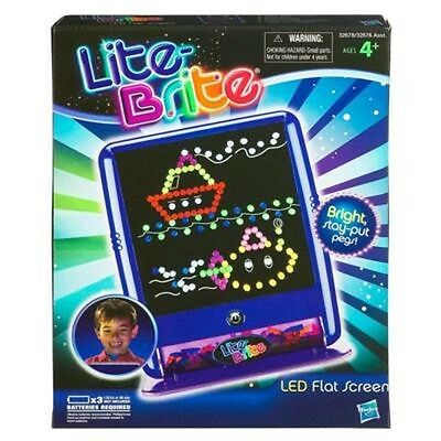 NEW ~ LITE BRITE LED FLAT SCREEN ~ INCLUDES STARTER ART SHEETS & PEGS ~ BLUE