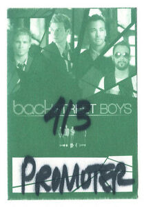Backstreet Boys - Konzert-Satin-Pass Promoter - Schönes Sammlerstück siehe Bild