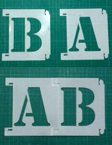 Letter Stencils interlocking  1in to 39in  5cm to 1m