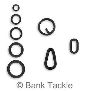 20 Matt Black Tear Drop Link Loops for Quick Kwik change swivels Carp Hair rigs