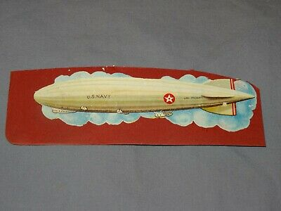 Nett !!! Altes Glanzbild Oplate Zeppelin Lz 126 Los Angeles Us Navy Um 1928 !!!
