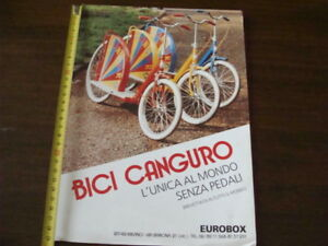 Dettagli Su Brochure Depliant Bici Canguro Bicicletta Senza Pedali Vintage Tipo Graziella