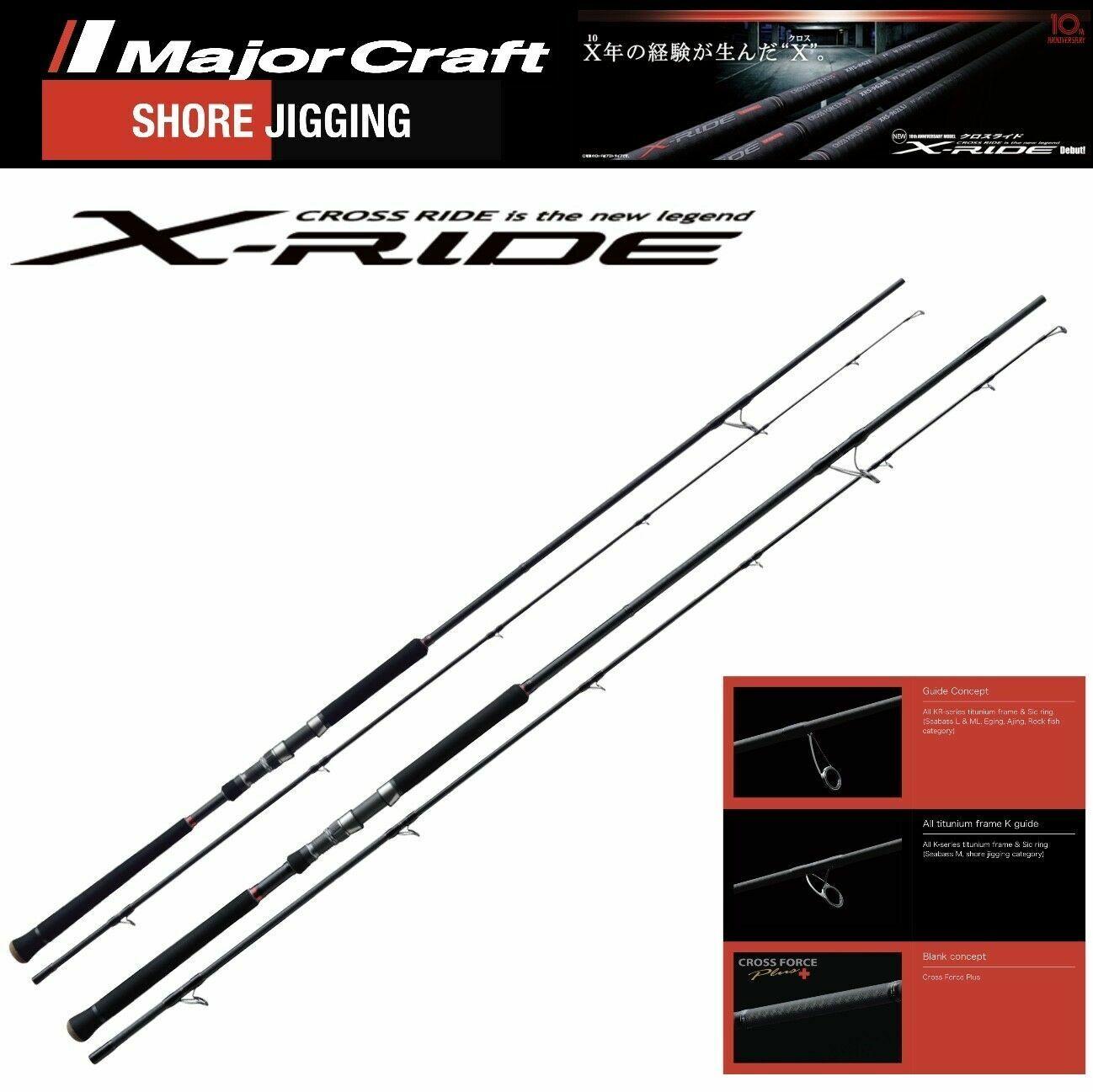 Major Craft premium shore jigging rod Model X-Ride