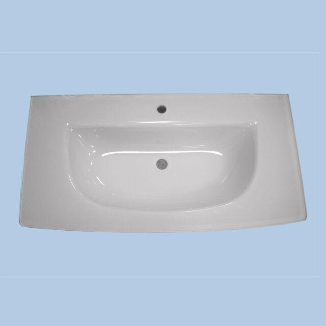 Waschbecken Glaskeramik Waschtisch Spirit 100 Badezimmer Becken
