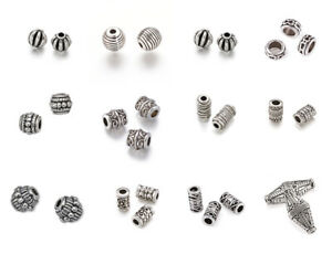 13-Style-Tibetan-Alloy-Silver-Charms-Metal-Beads-Spacers-Findings-Jewelry-Making