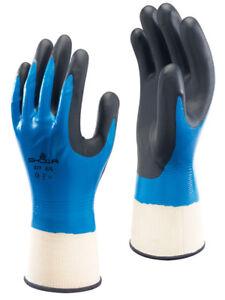 1-Pair-Atlas-Showa-377-Foam-Grip-Fully-Coated-Work-Gloves-Liquid-Resistant