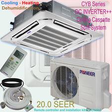 24000 BTU 2 Ton PIONEER Inverter Ceiling Cassette Ductless Split Heat Pump + Kit