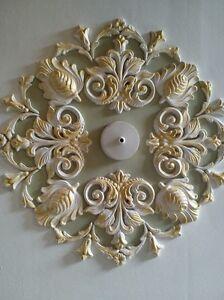 Rosa-De-Techo-Diseno-Yeso-Estilo-Art-Deco-hecho-a-mano-Oro-21-034