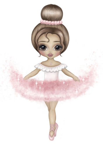 Almudena® Ballet Dance Girl Baby Nursery Wall Art Canvas Poster And Prints