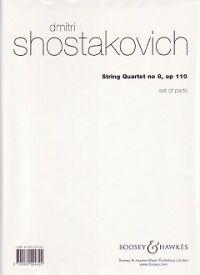 Chostakovitch Quatuor à Cordes No 8 Op 110 Pièces Set-afficher Le Titre D'origine