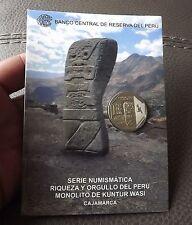1 SOL 2012  COIN BLISTER RIQUEZA ORGULLO DEL PERU MONOLITO OF KUNTUR WASI # 11