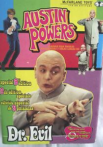 Austin-Powers-1999-edicion-especial-de-9-Pulgadas-Dr-Evil-Con-Tirar-Cuerda-de-sonido-Raro