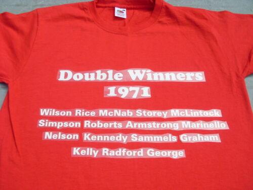 Charlie George /& 1971 Arsenal Double team T-Shirts inc 4XL /& 5XL Birthday Gift