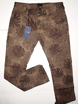 Armani Jeans slim straight leg fit size 31x32 leaf camo print design NWT