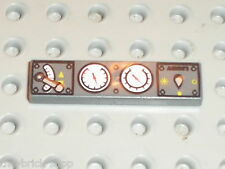 LEGO DkStone Tile with Train Controls Pattern ref 2431pc0 / 7898 7785 7897 10191