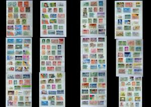Stamp-Collection-From-Australia-amp-A-Few-From-Papua-Free-Shipping-Worldwide
